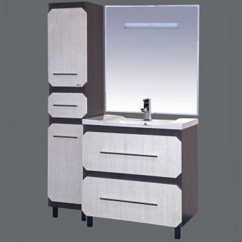 Хит-100  Серый/бежевыйМебель для ванной<br>Тумба под раковину Misty Хит-100 в современном стиле, серо-бежевого цвета. В цену включена только тумба, все остальное необходимо приобрести отдельно.<br>