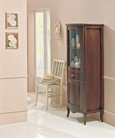 Rubino 54 NoceМебель для ванной<br>Шкаф-пенал Cezares Rubino 54 с одним выдвижным ящиком и двумя распашными дверцами.<br>