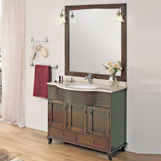 Valentino PatinatoМебель для ванной<br>Тумба под раковину Cezares Valentino с двумя выдвижными ящиками и тремя распашными дверцами.<br>