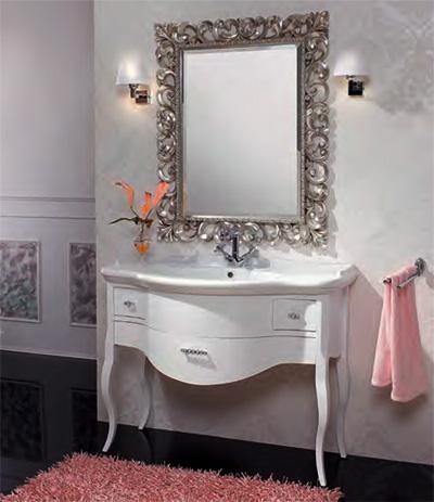 Lady LaccatoМебель для ванной<br>Тумба под раковину Cezares Lady с тремя выдвижными ящиками.<br>