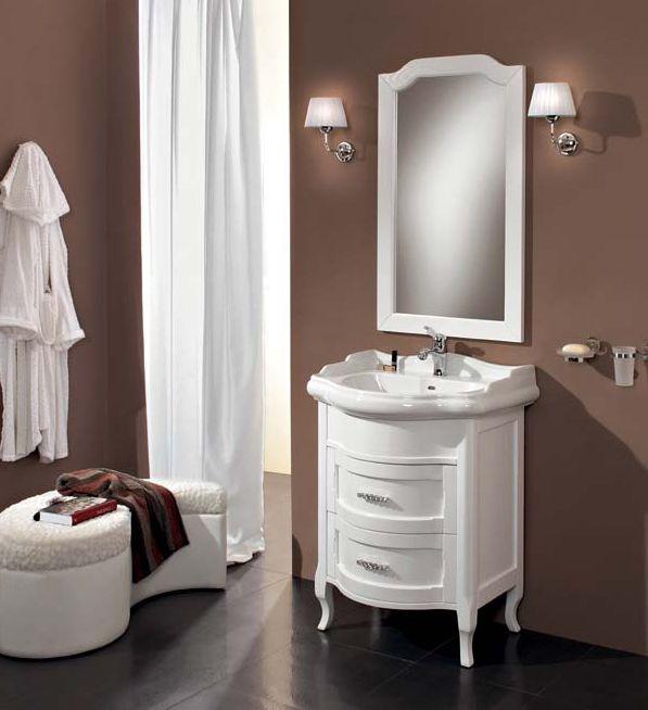 Laura 70 LA70.01C LaccatoМебель для ванной<br>Тумба под раковину Cezares Laura 70 с двумя выдвижными ящиками.<br>