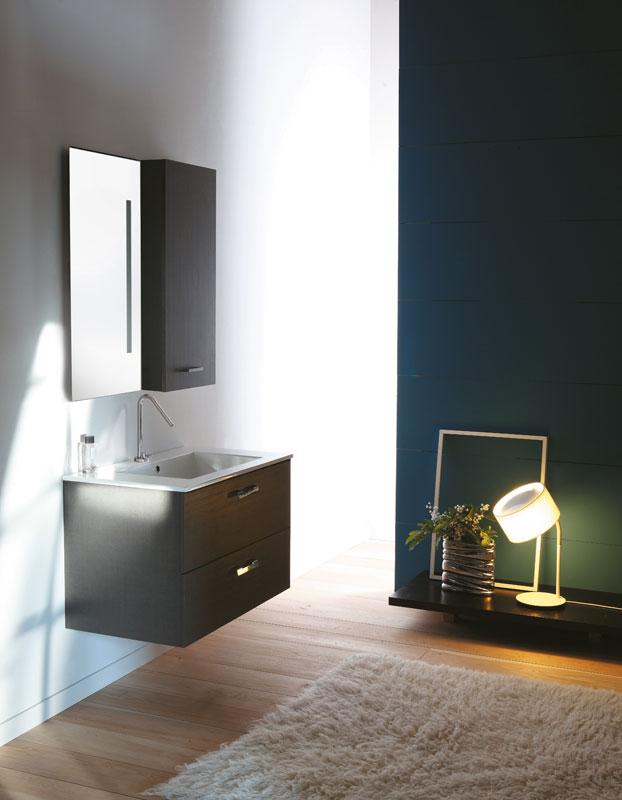 DR2C 97 M Rovere ChiaroМебель для ванной<br>Тумба с раковиной и двумя ящиками, подвесная. Цвет Rovere Chiaro.<br>