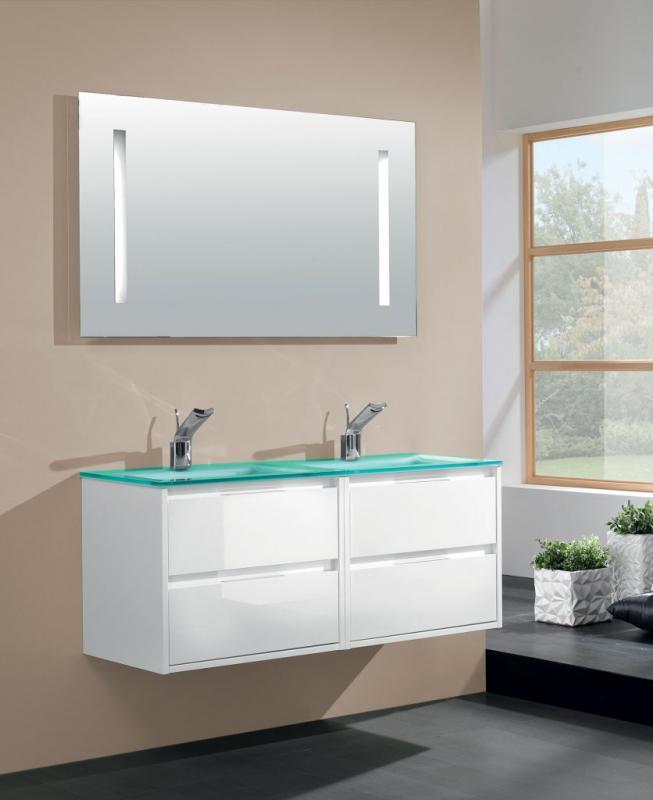 Loto Bianco Laccato LucidoМебель для ванной<br>Тумба под раковину Cezares Loto подвесная с двумя выдвижными ящиками.<br>