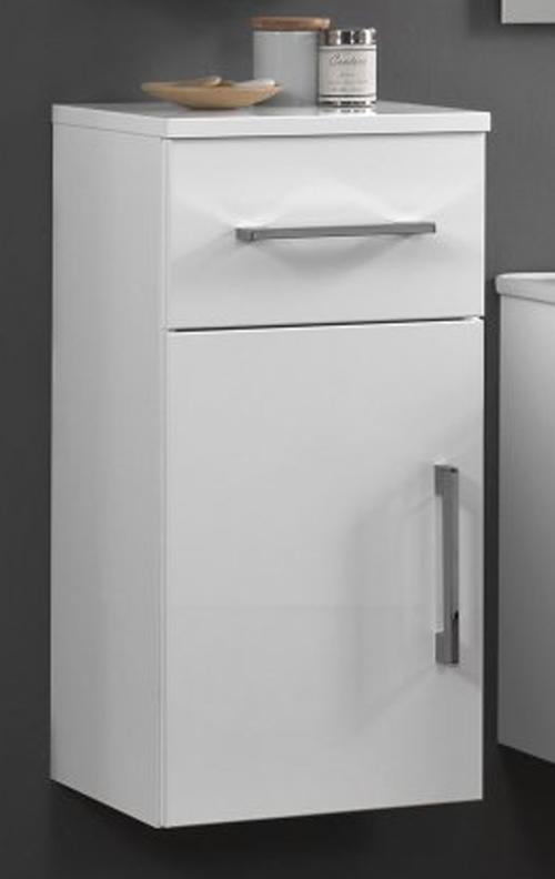 Maranello 35 38035-BIK Bianco Lacato LucidoМебель для ванной<br>Пенал Cezares Maranello 35 38035-BIK подвесной с одной распашной дверцей и одним выдвижным ящиком.<br>