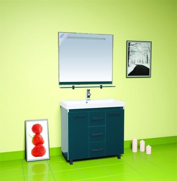 Джулия Qvatro - 75  с 3 ящиками прямая ЗеленаяМебель для ванной<br>Тумба  Джулия Qvatro - 75 с 3 ящиками прямая в комплекте с раковиной. Цвет зеленый.<br>