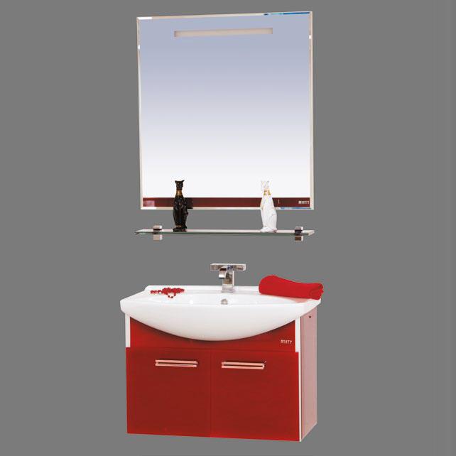 Джулия - 85 подвесная РозоваяМебель для ванной<br>Тумба подвесная в комплекте с раковиной Misty Джулия - 85. Цвет розовый.<br>