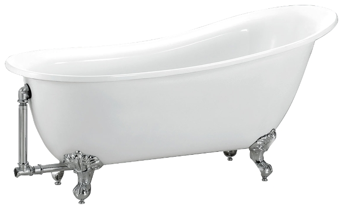 BB06 155x76 БелаяВанны<br>Отдельностоящая акриловая ванна Belbagno BB06-1550.<br>