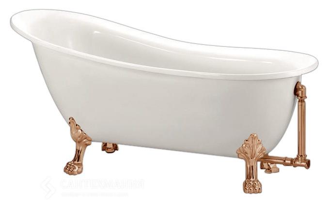 BB06-1700-BRN С ножкамиВанны<br>Свободностоящая акриловая ванна Belbagno BB06-1700-BRN, ножки в цвет бронза. Слив-перелив, ножки и кронштейн приобретается отдельно. Ножки предоставляются в двух вариантах на Ваш выбор.<br>