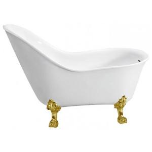147x78 BB08-ORO С ножкамиВанны<br>Свободностоящая акриловая ванна Belbagno BB08-ORO.<br>