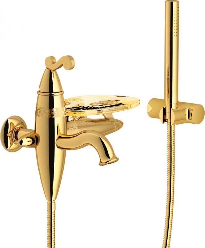 Dubai DB00110GD ЗолотоСмесители<br>Смеситель для ванны Teknobili Dubai DB00110GD.<br>