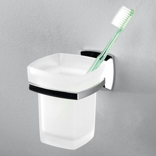 Wern K-2528 хром/матовое стеклоАксессуары для ванной<br>Подстаканник стеклянный Wasser Kraft Wern К-2528 с хромоникелеевым покрытием.<br>
