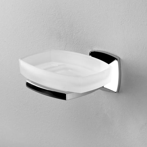 Wern K-2529 хром/матовое стеклоАксессуары для ванной<br>Мыльница стеклянная  Wasser Kraft Wern K-2529. Хромоникелевое покрытие (устойчиво к потускнению, легко очищается и придает аксессуарам зеркальный блеск).<br>