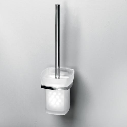 Щетка для унитаза WasserKRAFT Wern K-2527 хром/матовое стекло мыльница wasserkraft wern k 2529 хром матовое стекло