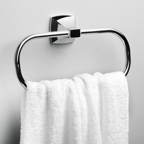 Wern K-2560 хромАксессуары для ванной<br>Держатель полотенец кольцо Wasser Kraft Wern К-2560. Хромоникелевое покрытие, устойчивое к потускнению, легко очищается и придает аксессуарам зеркальный блеск.<br>