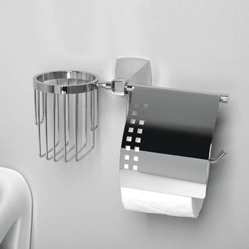 Wern K-2559 хромАксессуары для ванной<br>Держатель туалетной бумаги и освежителя Wasser Kraft Wern К-2559. Хромоникелевое покрытие, устойчивое к потускнению, легко очищается и придает аксессуарам зеркальный блеск.<br>