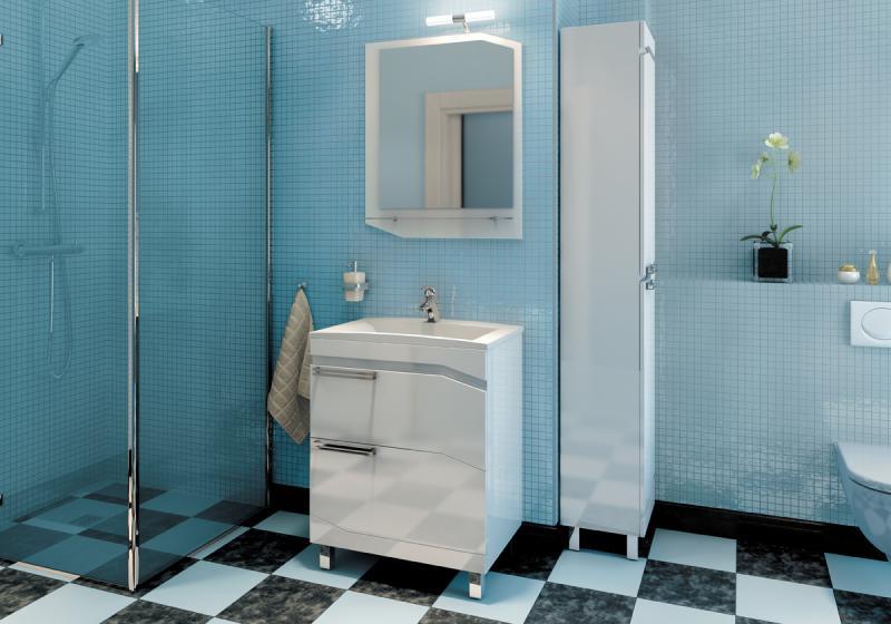 Bizzarro 65 БелаяМебель для ванной<br>Тумба с раковиной Valente Bizzarro Bzr650.91<br>