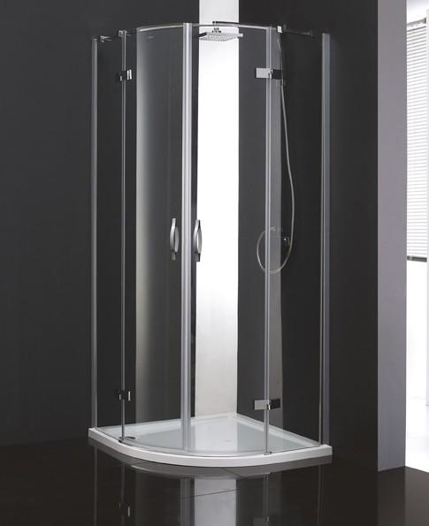 Bergamo R-2-90-ARCO-C/P-Cr Прозрачное стеклоДушевые ограждения<br>Душевой уголок Cezares Bergamo R-2-90-ARCO-C-Cr радиальный с двумя распашными дверями. Поддон приобретается отдельно.<br>