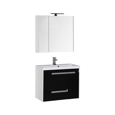 Тиволи 90 белая фасад черный  180066Мебель для ванной<br>Тумба под раковину подвесная Aquanet Тиволи 90.  Раковина, зеркало, шкаф-пенал и светильник приобретаются отдельно. Цвет белый фасад черный.<br>