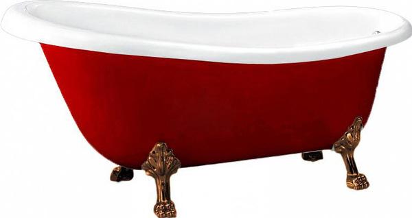 BB04-ROS-BRN 170x81 КраснаяВанны<br>Свободностоящая акриловая ванна  BB04-ROS. Цвет красный.<br>