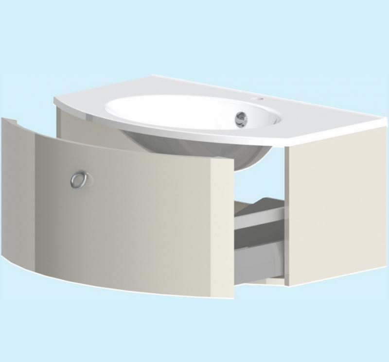 Венеция 100 c 1 ящиком БелаяМебель для ванной<br>Тумба подвесная Astra Form Венеция 100 c 1 ящиком. Раковина приобретается отдельно.<br>