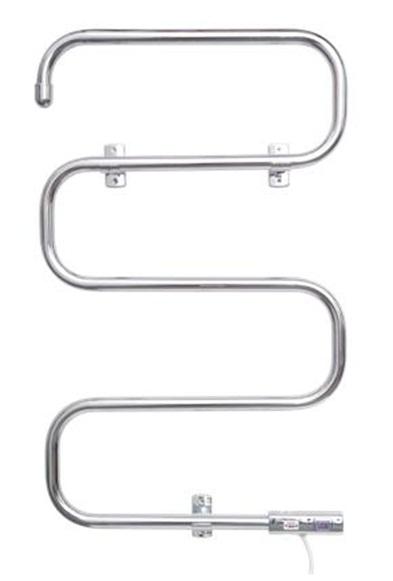 103 500х810Полотенцесушители<br>Полотенцесушитель Домотерм 103 25ПСЭ , приспособлен для сушки полотенец, одежды и т.п. в ванных комнатах, кухнях и прачечных.<br>Элегантная форма дизайн-радиатора определяет возможность его использования в качестве декоративной детали интерьера ванной комнаты.<br>Прибор подключается к розеткам с заземлением и снабжён выключателем со светодиодной подсветкой.<br>Удобство и функциональность дизайн-радиатора делают его популярным среди потребителей.<br>Изделие экономично и эффективно в эксплуатации. Мощность 70 Вт.<br>