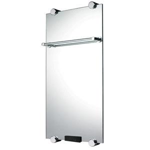 31 С зеркаломПолотенцесушители<br>Электрический  полотенцесушитель-зеркало Домотерм dmt31 с терморегулятором. Мощность: 500 Вт. Электрический полотенцесушитель производится в виде триплекса из стекла. На нем устанавливается перекладина для просушивания текстильных изделий. Зеркальная поверхность подвергается нагреву для достижения оперативного обогрева помещения. Мощность изменяется в пределах 100-500 Вт, используя пульт ДУ. Главным достоинством полотенцесушителя является использование электроэнергии, преобразовывающейся в инфракрасное излучение, которое оказывает благоприятное воздействие на человеческий организм. Разогрев может производиться в пределах +55 °C. Дизайн-радиаторы можно устанавливать в любом произвольно выбранном месте благодаря отсутствию привязки к центральной отопительной системе, а не только в ванных комнатах. Кроме того, их можно с легкостью переустанавливать из одного места на другое.<br>