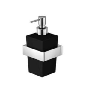 420 8002 Черная/хромАксессуары для ванной<br>Мыльница настенная с дозатором Steinberg 420 8002. Цвет черный/хром.<br>