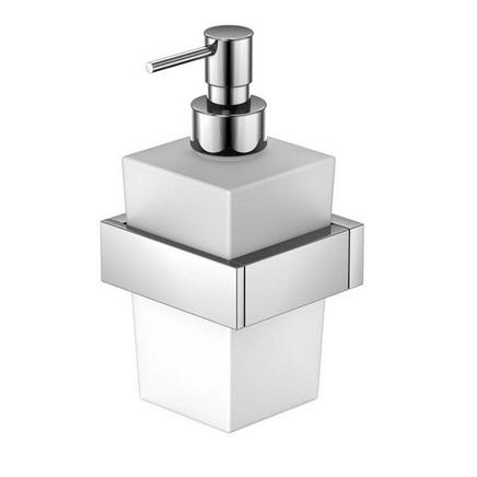 460 8001 белая/хромАксессуары для ванной<br>Мыльница настенная с дозатором Steinberg 460 8001. Цвет белый/хром.<br>