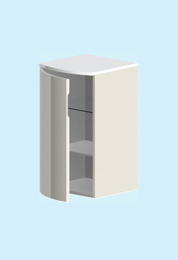 Венеция ПравыйМебель для ванной<br>Полупенал правосторонний Astra Form Venecia. В комплекте: полки (петли с  плавным закрыванием), ящик, комплект крепежа.<br>