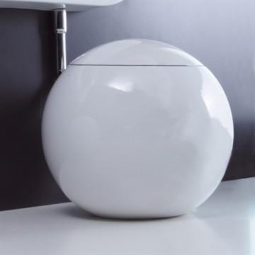 550-C-P БелыйУнитазы<br>Унитаз Disegno Ceramica Sfera 550-C-P с горизонтальным выходом, хромировоной трубой, (выпуск в комплекте). Бачок для унитаза и сиденье с микролифтом приобретаются отдельно.<br>