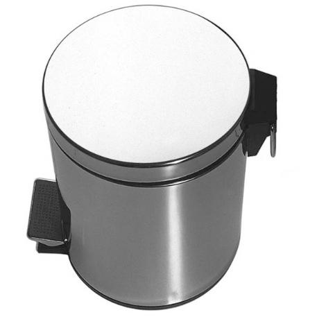 650 2950 ХромАксессуары для ванной<br>Мусорница из отполированной нержавеющей стали с откидной крышкой Steinberg 650 2950. Цвет хром.<br>