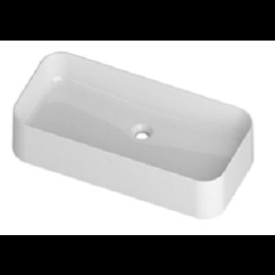 589 БелаяРаковины<br>Раковина накладная Disegno Ceramica Slim 589, белая, без отверстий для смесителя, без перелива.<br>