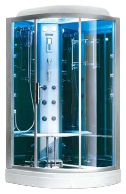 B609  ( L ) С паромДушевые кабины<br>Душевая кабина SSWW B609 ( L ) с паром. Особенности и функции паровой кабины: BF600 цифровая жидкокристаллическая панель управления (с дистанционным управлением), паровая сауна с регулировкой времени и температуры, функция очистки парогенератора, складное сиденье, устройство массажа ног, массаж спины, верхний душ и верхний свет, ручной душ с регулируемой душевой штангой, смеситель переключения горячей и холодной воды, переключение режимов воды, вытяжной вентилятор.<br>