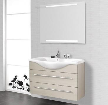 Luna Birka 100 Белый глянцевыйМебель для ванной<br>Тумба под раковину Dansani Luna N91049 Birka 100, с двумя ящиками. Комплектуется раковиной Birka 100 см, различными зеркалами, зеркальными шкафами, пеналами, ручками. Цена указана за стандартную тумбочку Birka 100 с двумя ящиками и двумя стандартными ручками. Дополнительное оборудование приобретается отдельно.<br>