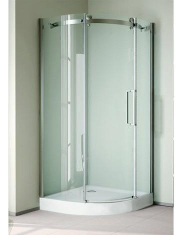 Stylus R-1-90-C-Cr Прозрачное стеклоДушевые ограждения<br>Душевой уголок Cezares Stylus R-1-90-C-Cr.С Одна раздвижная дверь,стекло 6 мм.<br>