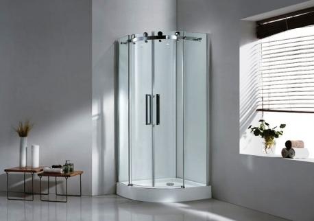 Stylus R-2-90-C-Cr Прозрачное стеклоДушевые ограждения<br>Душевой уголок Cezares StylusR-2-90-C-Cr.С Две раздвижные двери,стекло 6 мм. Поддон приобретается отдельно.<br>