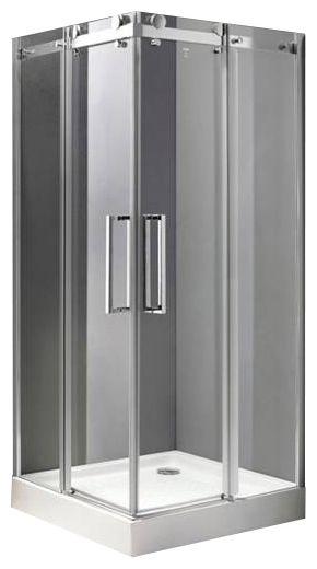 Stylus A-2-90-C-Cr Прозрачное стеклоДушевые ограждения<br>Душевой уголок Cezares Stylus A-2-90-C-Cr.С Две раздвижные двери,стекло 8 мм.<br>
