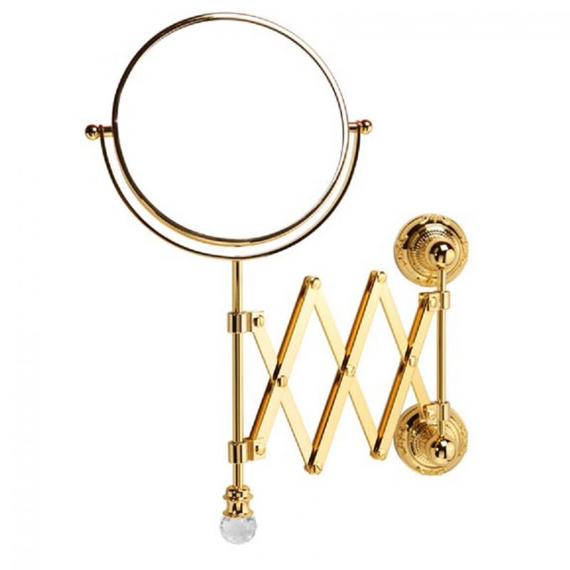 Cristalia Swarovski ML.CRS-60.219 DO (золото)Аксессуары для ванной<br>Зеркало оптическое настенное  Migliore Cristalia Swarovski ML.CRS-60.219 DO. Цвет золото.<br>