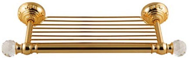 Cristalia Swarovski ML.CRS-60.215 DO (золото)Аксессуары для ванной<br>Полка-решетка Migliore Cristalia Swarovski ML.CRS-60.215 DO. Цвет золото.<br>