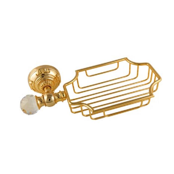 Cristalia Swarovski ML.CRS-60.225 DO (золото)Аксессуары для ванной<br>Решетка-корзинка настенная  Migliore Cristalia Swarovski ML.CRS-60.225 DO. Цвет золото.<br>