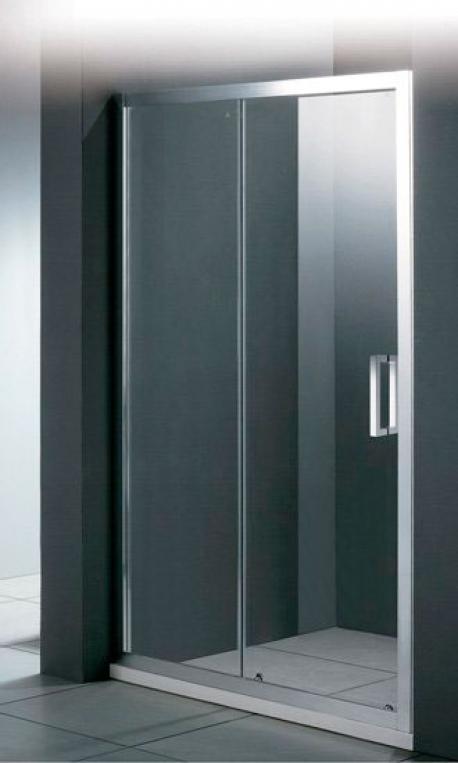 Porta BF1 150 Прозрачное стеклоДушевые ограждения<br>Душевая дверь в нишу Cezares Porta BF-1 150 PORTA-D-BF-1-150-C-Cr раздвижная, с одним неподвижным стеклом. Стекло 6 мм.<br>