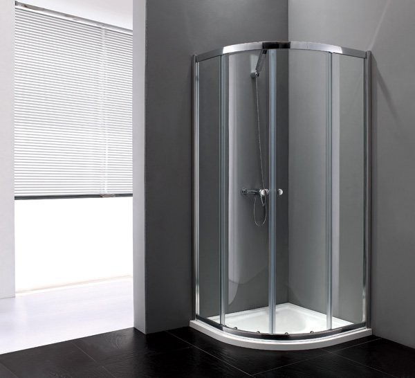 Family R-1-90-C/P-Cr Прозрачное стеклоДушевые ограждения<br>Душевой уголок Cezares R-1-90-C-Cr.Одна раздвижная дверь. Стекло 6 мм.Поддон приобретается отдельно.<br>