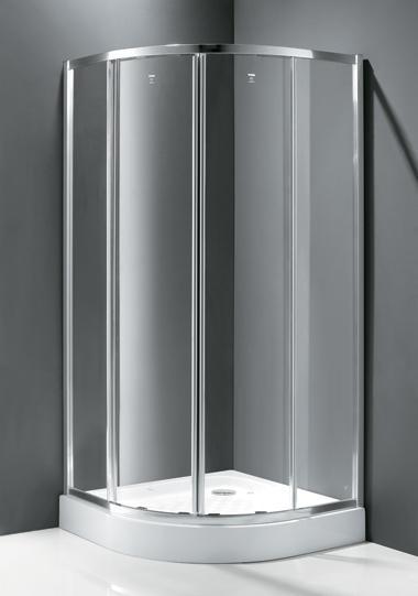 Family R2 80x80 Текстурированное стеклоДушевые ограждения<br>Душевой уголок Cezares Family R-2 80x80 FAMILY-D-R-2-80-P-Cr с двумя раздвижными дверьми. Стекло 6 мм.<br>