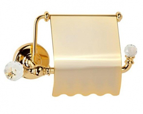 Amerida Swarovski ML.AMR-60.406 DO (золото)Аксессуары для ванной<br>Бумагодержатель закрытый  Migliore Amerida Swarovski ML.AMR-60.406 DO. Цвет золото.<br>