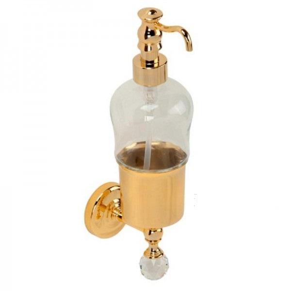 Amerida Swarovski ML.AMR-60.407 DO (золото)Аксессуары для ванной<br>Дозатор для жидкого мыла настенный  Migliore Amerida Swarovski ML.AMR-60.407 DO. Цвет золото.<br>