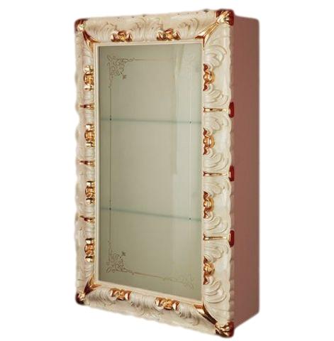 Bella ML.BLL-VS460DX AG (серебро)Мебель для ванной<br>Витрина подвесная со стеклянной дверцей Migliore Bella ML.BLL-VS460DX AG со стеклянной дверцей. Стекло матовое с декором. Петли справа. Цвет серебро.<br>