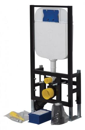 GR5004 СтальИнсталляции<br>Инсталляция для подвесного унитаза Creavit GR5004 с креплением к полу. В комплекте поставки: инсталляция, бачок, крепеж.<br>