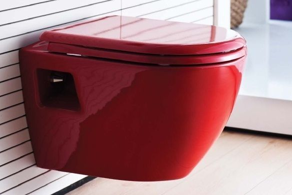 Single TP325.A01 КрасныйУнитазы<br>Унитаз Creavit Single TP325.A01 подвесной, с горизонтальным выпуском, для скрытого бачка, с сиденьем с крышкой красного цвета, с петлями из нержавеющей стали. Инсталляция и сиденье для унитаза приобретаются дополнительно.<br>