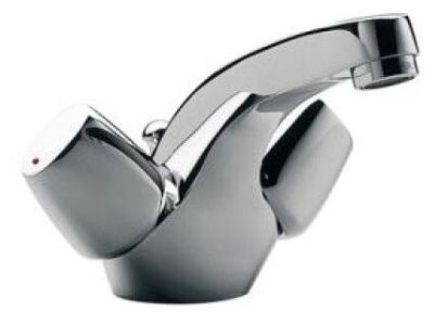Ginko E72915 ХромСмесители<br>Jacob Delafon Ginko E72915: с двумя рукоятями, с гибкой подводкой, с низким изливом.<br>
