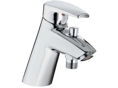 Panache E71240 ХромСмесители<br>Jacob Delafon Panache E71240: однорычажный, быстрая установка сверху, аэратор Cascade с антиизвестковым покрытием, ограничитель температуры воды, с автоматическим переключателем и гибкой подводкой (500мм), обратный клапан на выходе для душа.<br>